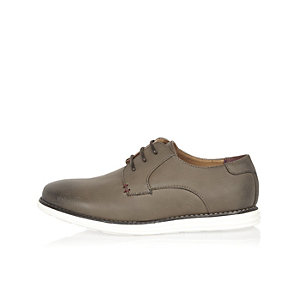 Boys light brown derby shoes