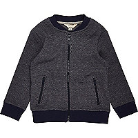 Mini boys navy bomber jacket