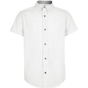 Boys white short sleeve shirt