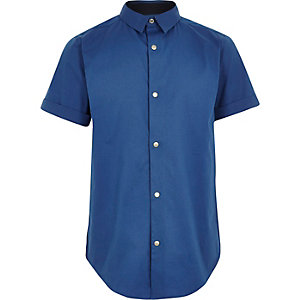 Boys blue short sleeve shirt