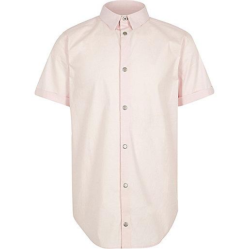 Boys light pink snappy shirt