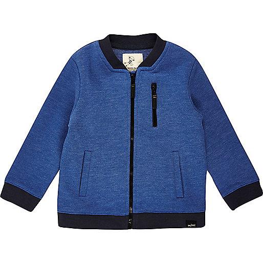 Blouson bleu zippé mini garçon