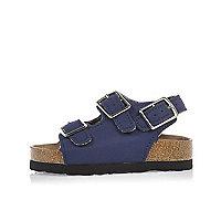 Sandales bleues à boucles mini garçon