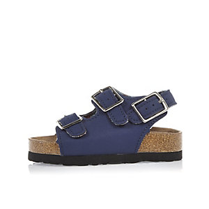 Mini boys blue buckle sandals
