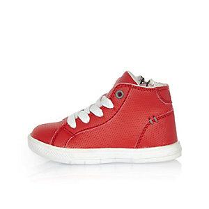 Baskets montantes rouges mini garçon