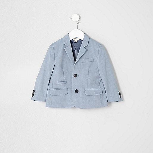 Veste de costume bleu clair pour mini garçon