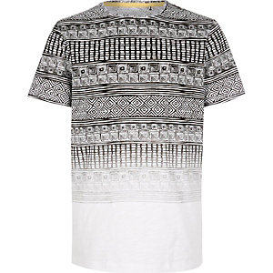 Boys white Aztec print t-shirt
