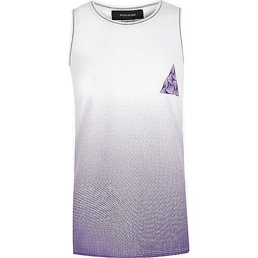 Boys purple fade vest