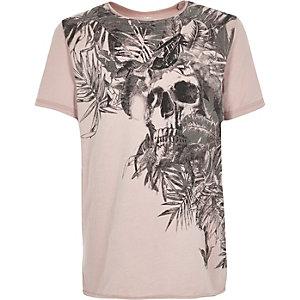 Boys pink skull t-shirt