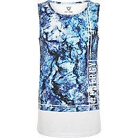 Boys blue marble print vest