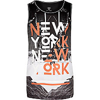 Boys black New York vest