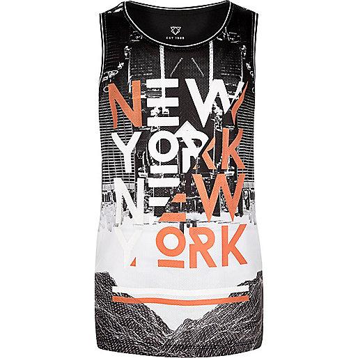"""Schwarzes Trägershirt mit """"New York""""-Print"""