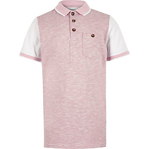 Boys pink piqué polo shirt