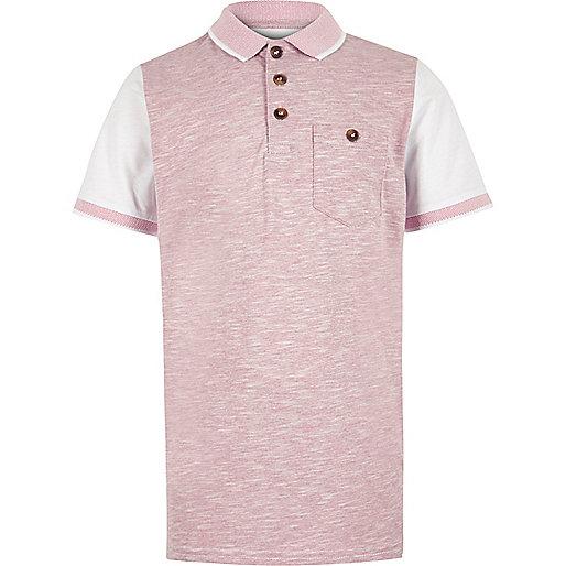 Boys pink piqué polo shirt