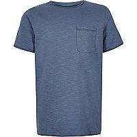 Boys blue marl textured T-shirt