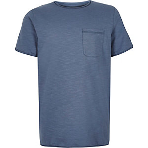 Boys blue marl textured t-shirt
