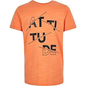 Boys coral print t-shirt
