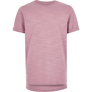 Boys pink textured t-shirt