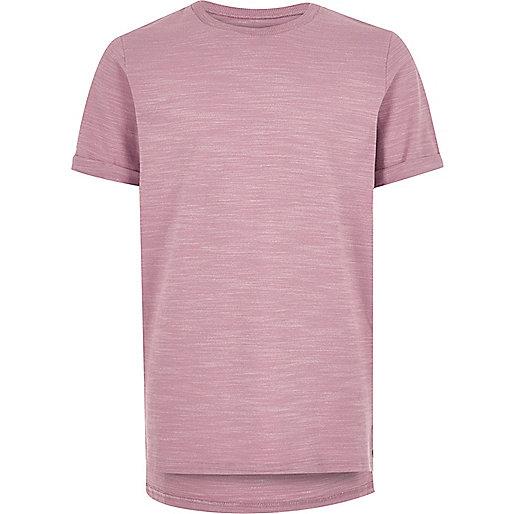 Boys pink textured t-shirt