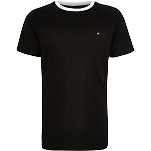 Boys black ringer t-shirt