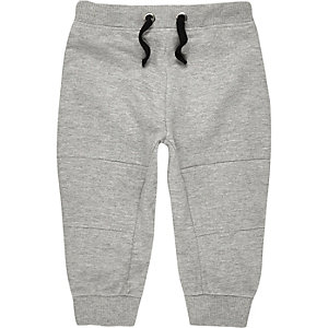 Mini boys light grey joggers