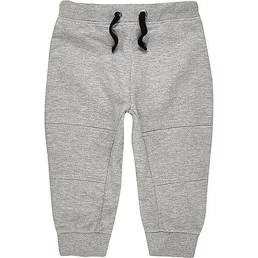 Mini boys light grey joggers