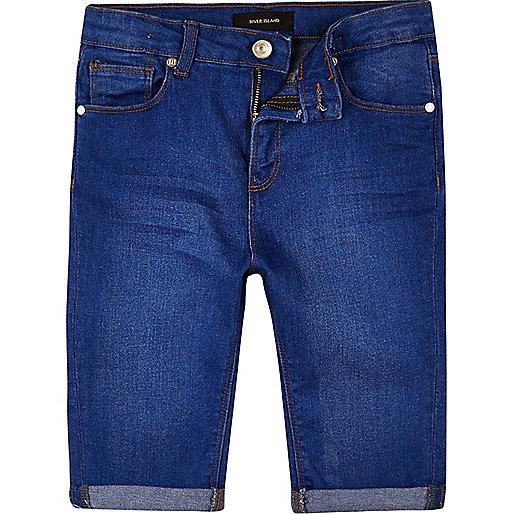 Short en jean skinny bleu pour garçon