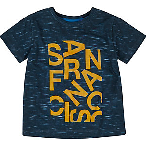 Mini boys blue San Fran print t-shirt