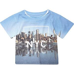 Mini boys blue NYC print t-shirt