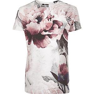 Boys red flower print t-shirt
