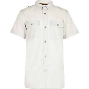 Chemise gris clair style militaire pour garçon