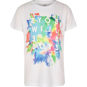 Boys white splatter print t-shirt