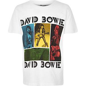 Boys white David Bowie print t-shirt