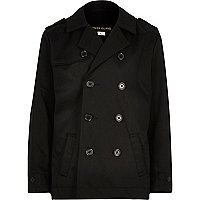 Boys black traditional mac coat