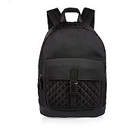 Boys grey tech quilted backpack