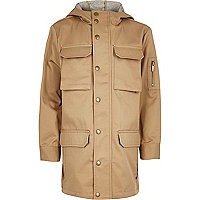 Boys stone lightweight utility coat