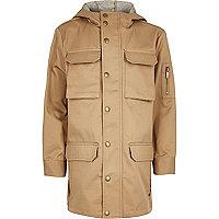 Manteau grège léger fonctionnel pour garçon
