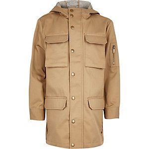 Boys stone four pocket coat