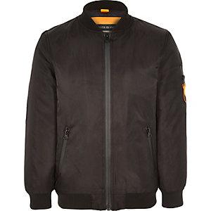 Boys black bomber jacket