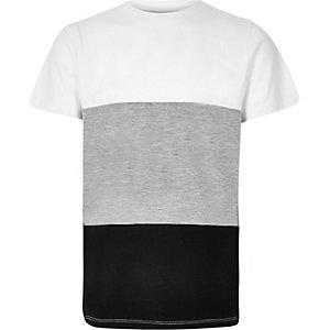 Boys grey block panel t-shirt