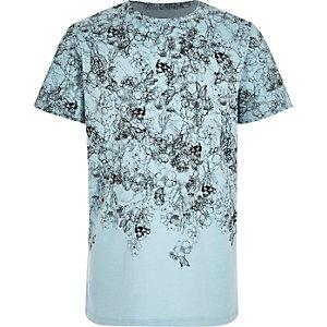 Boys blue skulls t-shirt