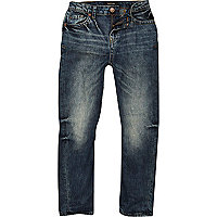 Boys dark wash Chester tapered jeans