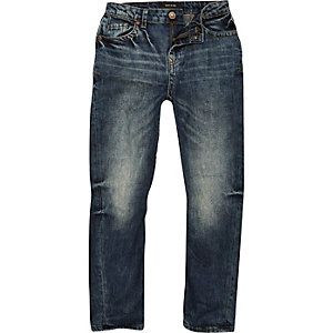 Chester-Jeans in Karottenform, dunkle Waschung