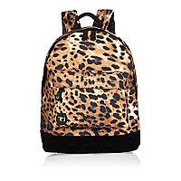Girls brown leopard print Mi-Pac backpack