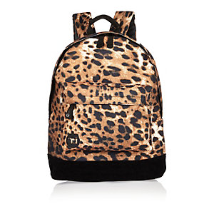 Girls brown leopard print Mi-Pac backpack