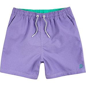 Short de bain violet clair pour garçon