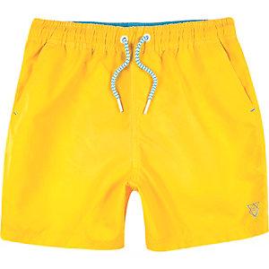 Short de bain jaune vif pour garçon