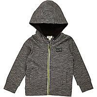 Mini boys black hoodie