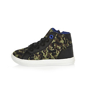 Mini boys camo hi tops