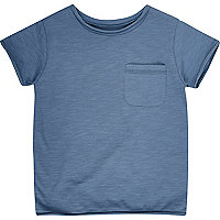 Mini boys denim blue crew neck t-shirt